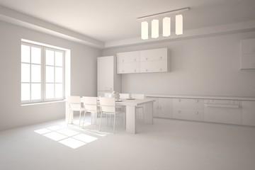 abstract grey interior