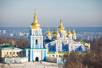 Photo Stands Kiev Top view of St. Michael's Monastery in Kiev. Ukraine