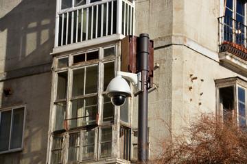 camara de seguridad en las calles de burgos
