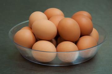 Vassoio con uova