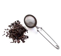 strainer and tea
