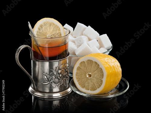 Черный чай с лимоном калории