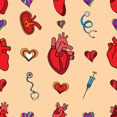 set flat human organs icons illustration concept. Vector backgro