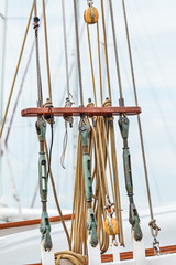 Rigging on an old Dutch sailing ship