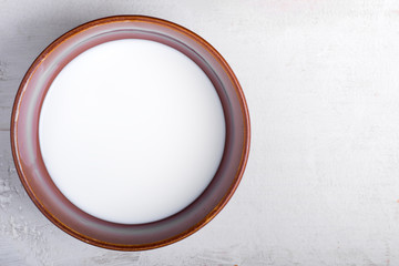 Bowl with milk