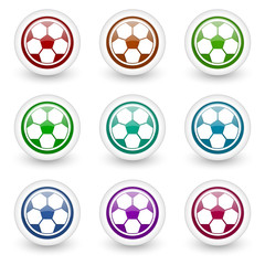 soccer web icons vector set
