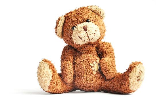 Teddy bear isolated on white