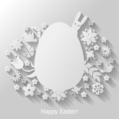Decorative Easter flat background