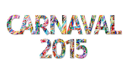 Carnaval 2015 isolated on white background.