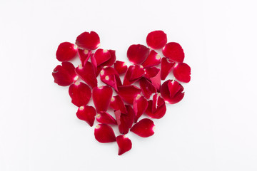 Lovely beautiful petal beautiful heart of red an rose