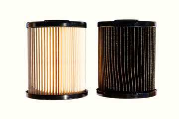 Clean and Dirty Diesel Fuel Filters