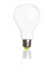 Empty light bulb isolated