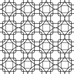 Abstract geometric monochrome pattern