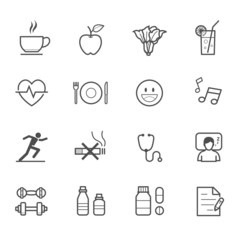 Health Icons and Wellness Icons