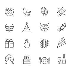 Celebration Icons and Party Icons