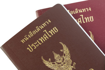 Passport Thailand for travel concept background