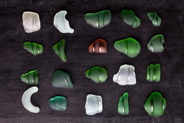 sea glass bottlenecks