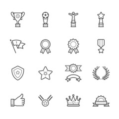 Trophy, Prize and Awards Icons