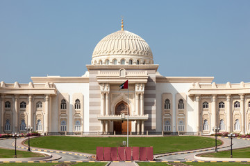 Government building in the city of Sharjah, UAE