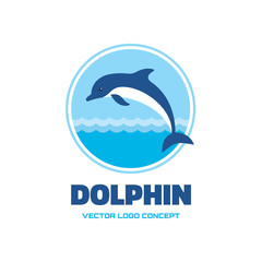 Dolphin - vector logo concept illustration