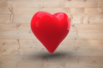 Wall Mural - Composite image of red heart