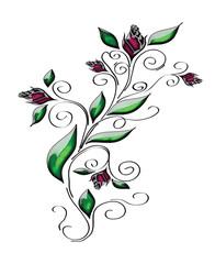 абстрактная роза,авторская работа,вектор