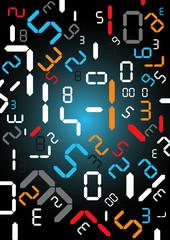 Digital numbers background