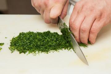 dill on a cutting board