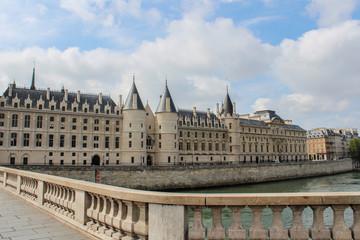 The picturesque embankments of the Seine in Paris, France. (La Conciergerie)
