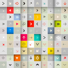 Arrows Vector Seamless Background Set