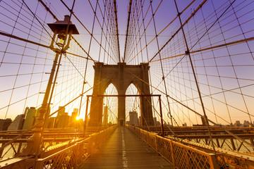 Brooklyn Bridge sunset New York Manhattan