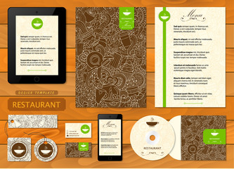 Corporate identity. Cafe, restaurant firm style .