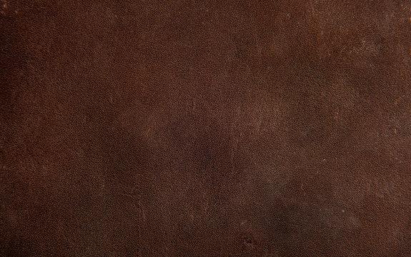 Dark brown vintage and grunge background texture. Leather