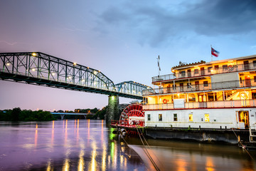 Chattanooga, Tennessee Riverboat Scene