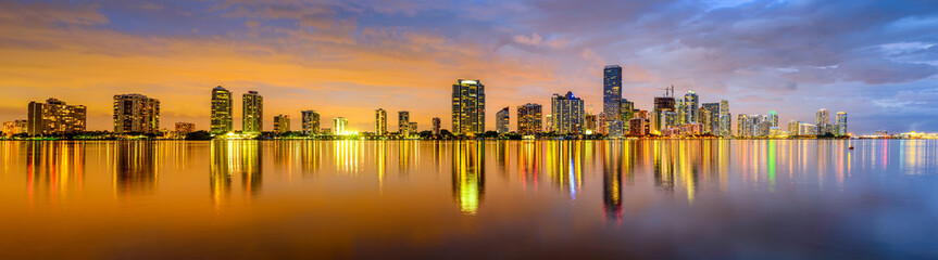Miami, Florida Biscayne Bay Skyline Panorama