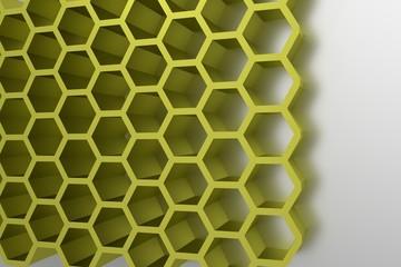 Abstract geometrical honey cells modern template