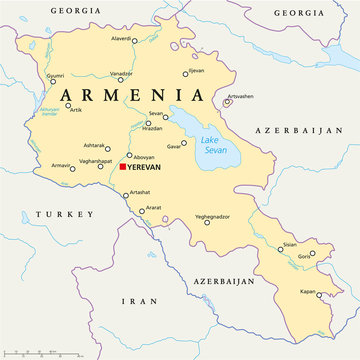 Armenia Political Map