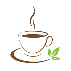 Tea cup icon brown