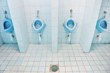 Blue urinals