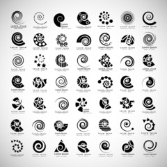 Unusual Spirals Set - Isolated On Gray Background - Vector Illustration, Graphic Design Editable For Your Design