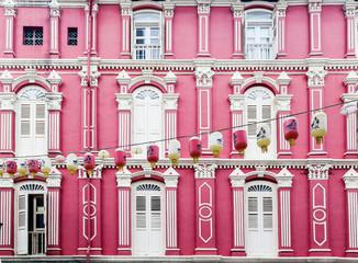Foto op Plexiglas Singapore Colorful Chinatown Architecture of Singapore