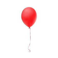Red balloon icon isolated on white background