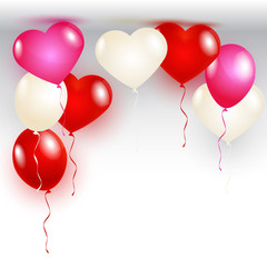 Vector illustration Valentine's Day card with balloons shape