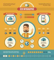 Social Media Infographic Elements.