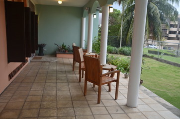 Veranda with chairs