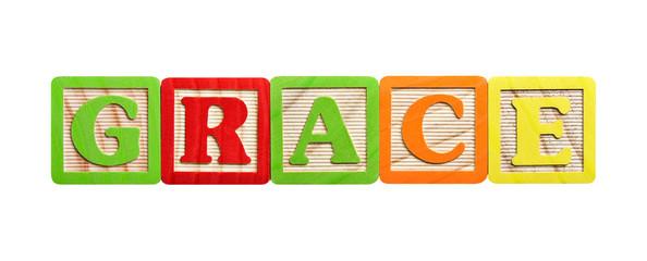 Alphabet blocks grace
