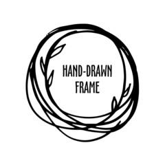 Original vintage frame - hand-drawn wreath.