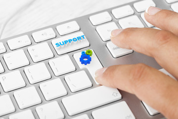 Support button on keyboard with soft focus
