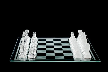 chess pieces and chess board