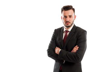 Bad and angry business man